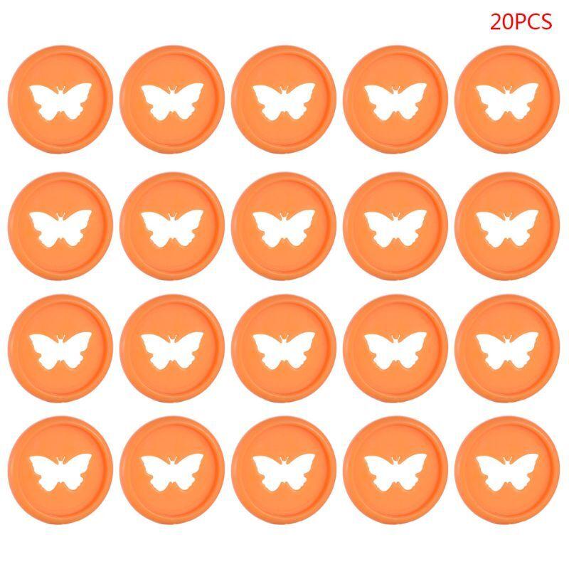 20pcs Colorful Butterfly Notebook Plastic Binding Ring Mushroom Hole Disc DIY R9JA