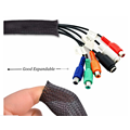 VW-1 PET Expandable Cable Braided Sleeving Mesh Tube