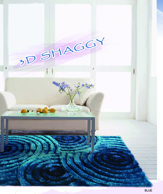 Polyester 3D Shaggy Carpet