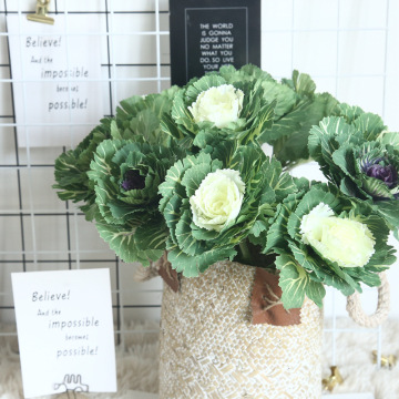 1Pc Artificial flower Olive vegetables branch olive dish cabbage for home decoration wedding holding flowers plants wall