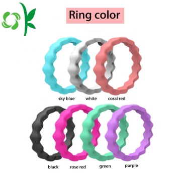 New Design Product Fashionable Colorful Silicone Ring