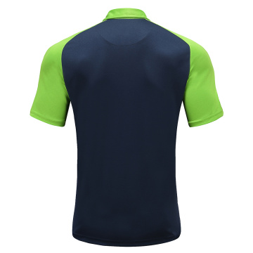 Mens Dry Fit Rugby Wear Polo Shirt Navy