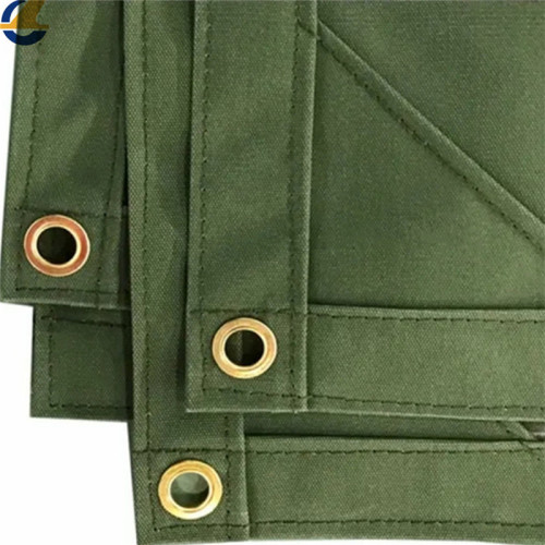 Green cotton canvas tarps 18oz
