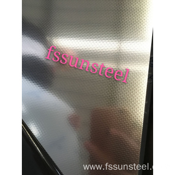 Linen embossed stainless steel sheets
