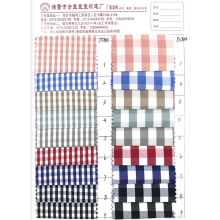 Polyester cotton plaid fabric