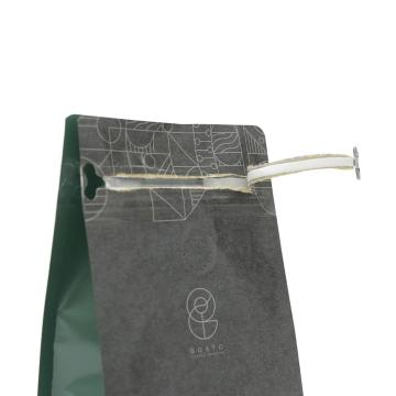 flat bottom kraft paper Coffee Bag With Valve