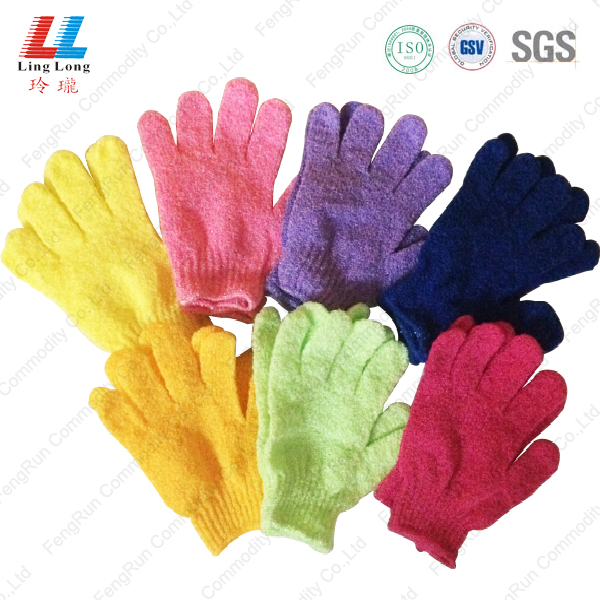 moisturizing base body bath gloves scrubber wholesale