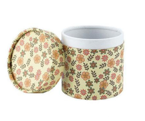 Round Shape Tin Paper Box With Lid