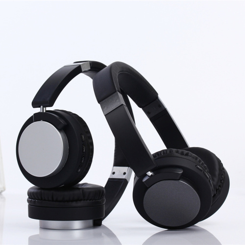 FM Receiver Metal Headband Headphones Bluetooth