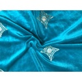 100% Polyester Knitted Velour Fabric For Garment