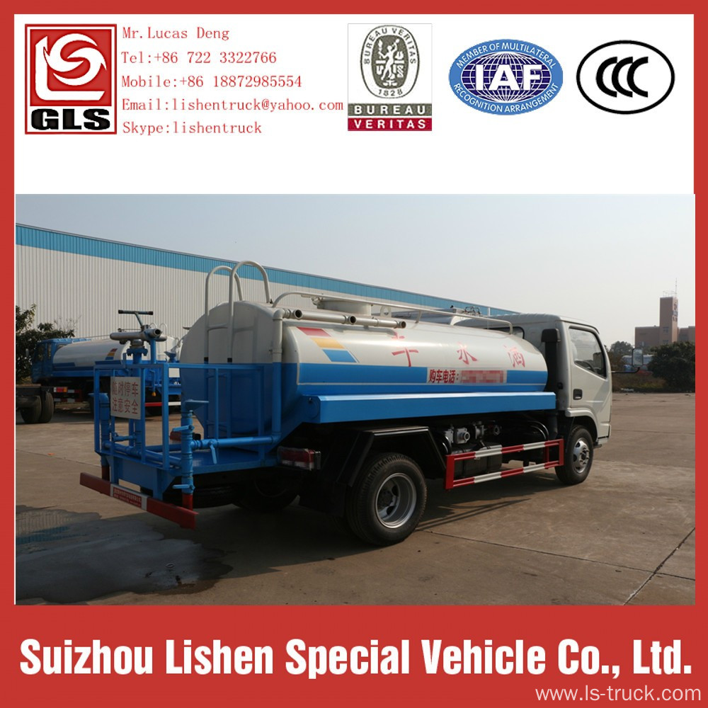 Water Trucks For Sale Dong Feng 5000L 4*2