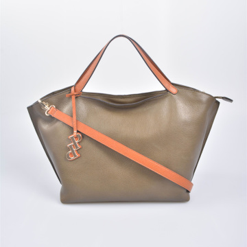 Casual ladies leather satchel bag fashional tote