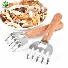 Duolvqi Stainless Steel Meat Separator BBQ Bottle Opening Tool Meat Tearing Forks Bear Claw Meat Dividing Machine Multifunction