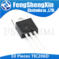 10PCS TIC206D TO-220 TIC206 TO220 400V 4A SILICON BIDIRECTIONAL TRIODE THYRISTOR