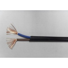 Flat copper core PVC insulated sheathed soft wire