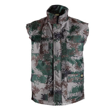 Camouflage Gilet d'hiver 100% polyester