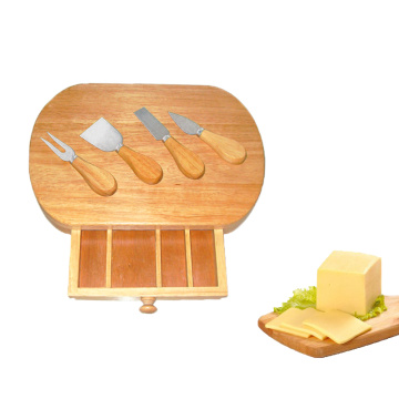 4pcs tools Wood Oak Pizza Cheese Board Set