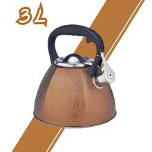 Golden Frosted Stainless Steel Whistling Tea Kettle