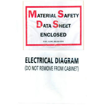 MSDS Printed Packing list envelope