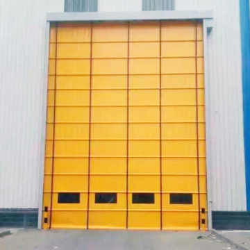Automatic high speed folding up door