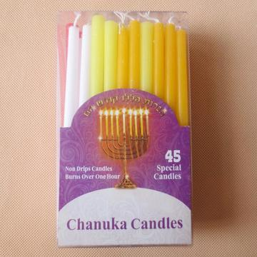 Mini Small Multicolor Jewish Spiral Hanukah Candles