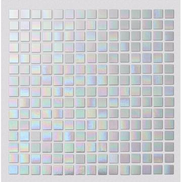 White Pearl Watercolor Glass Mosaic Tiles For Kitchen