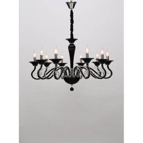 Modern Creative Living Room Indoor Classic Black Chandelier