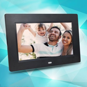 7 Inch Digital Photo Frame X08E - Digital Picture Frame with IPS Display Motion Sensor USB and SD Card Slots Remote Control