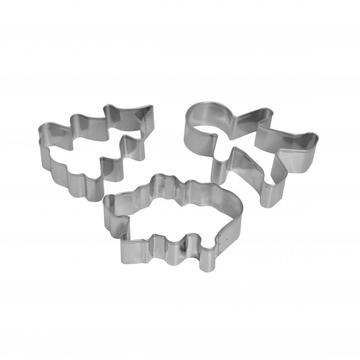 stainless steel cookie cutter set 3pcs