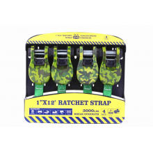 12Ft Ratchet Tie Down Lashing Belt with 1360KGS
