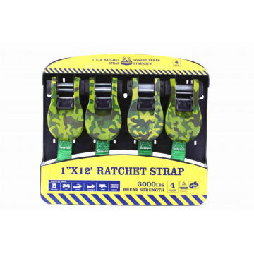 Camo Rachet Handle Straps With 15Ft,1500LBS