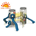 Double Tower Slide Outdoor Playground For Children