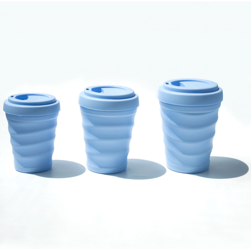 Reusable Silicone Coffee Cup Mug with Lids
