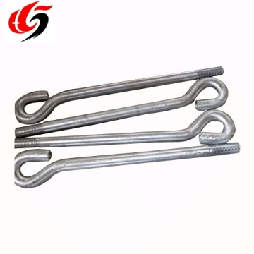 High quality galvanized plated l bolt j hook bolt
