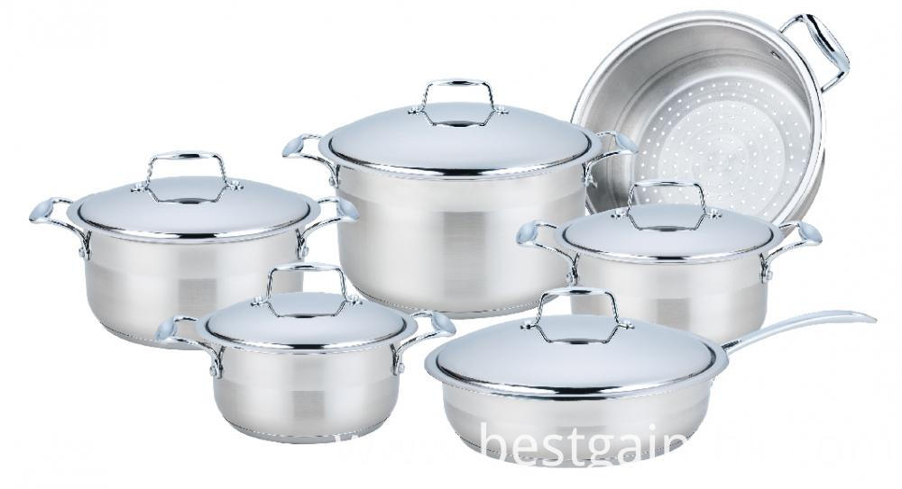 11 Pieces Wide Edge Cookware Set
