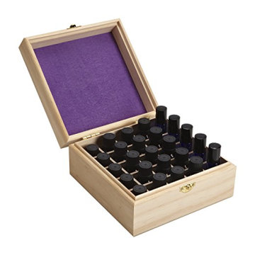 25 Slot Wooden Essential Oil Box case holds 5-5ml 10ml Roller Bottles Perfect Essential Oil Storage organizer