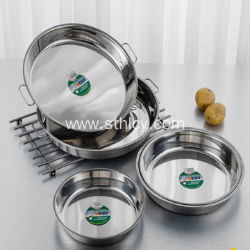 Stainless Stainless Steel Magnetic Double Ear Cake Dish