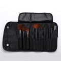 12 brown head makeup brush with cloth bag