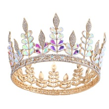 Colorful Leaves Round Crown For Beauty Queen