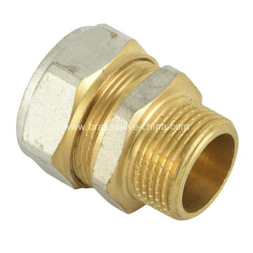Brass Male straight compression couplings