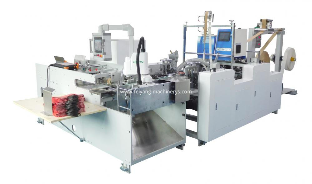 Auto Twisted Handle Pasting Machine