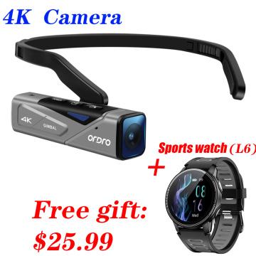 4K Video Camera Digital Camcorder EP7 UHD 60fps Outdoor Sports Wearable Anti-shake IP65 Waterproof Camara Filmadora Vlog Camera