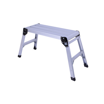Aluminum foldable working platform ladder
