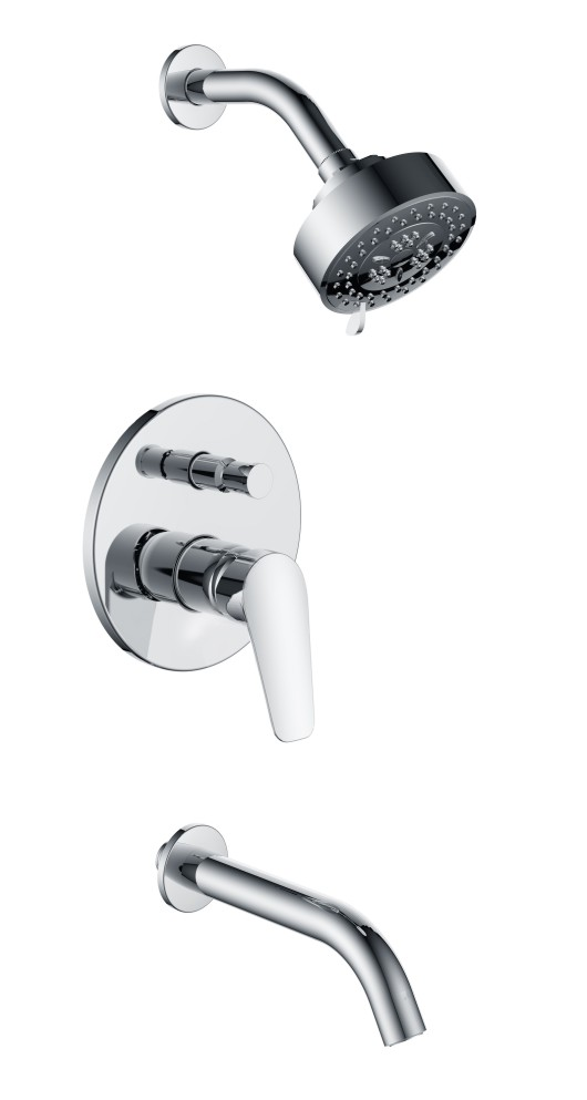 Bathroom Luxury Rain Mixer Shower Set Wall Mounted