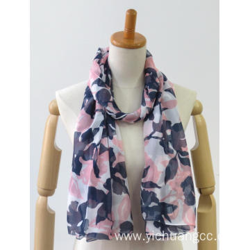 Latest colorful long classic printing jacquard ladies shawl
