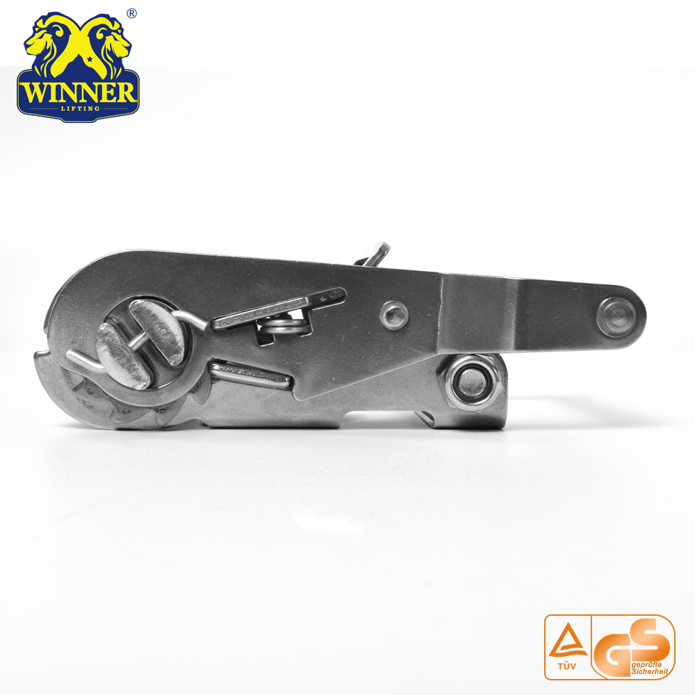 Stainless Short Handle Steel Ratchet Buckle For Tie Down