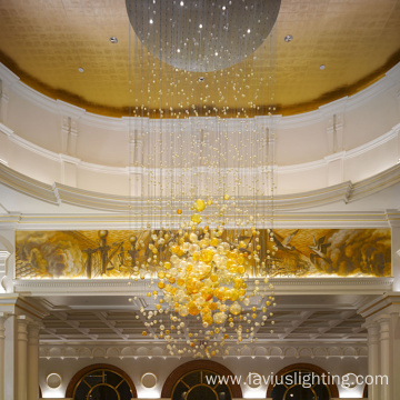 Fashion customized gorgeous lobby crystal ball chandelier
