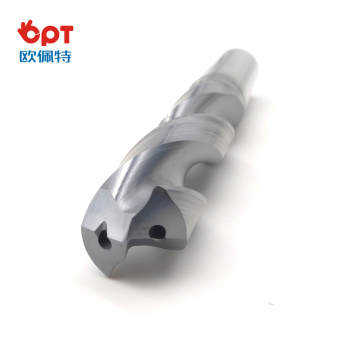 Carbide indexable brad point twist drills for steel