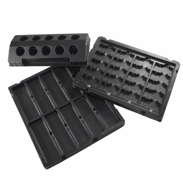 Black vacuum forming plastic pet/ps electronics blister tray