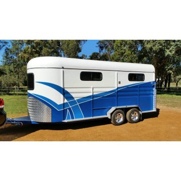 Three Horse Angle Load Trailer with Kitchen